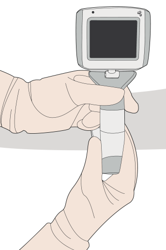 VL400 video laryngscope connection: Twist-N-Lock operations